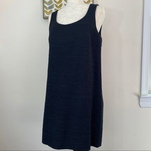 Theory sheath dress in tweed gold sparkle size 12